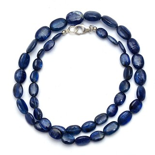 Natural Blue Kyanite Beaded Necklace