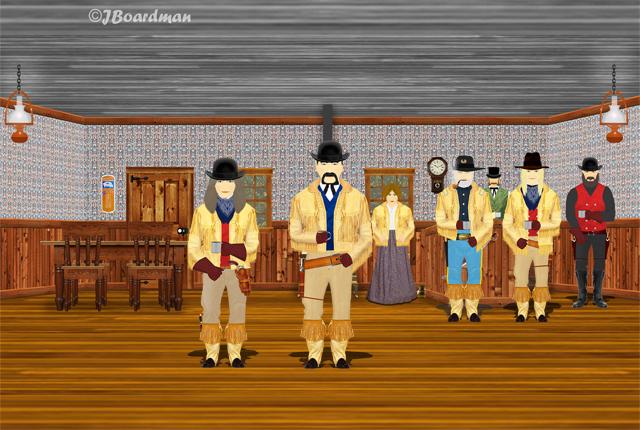 Boomer & Chris Inside the Moosehead Saloon ©Jack Boardman