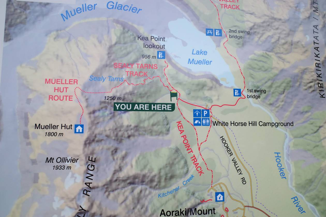 マウントクック・セアリーターンズ地図