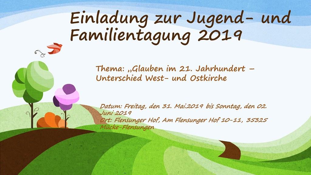 Einladung zur Jugend- und Familientagung 2019
