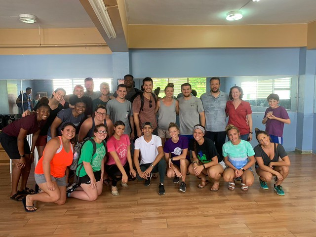 Group after our first salsa class