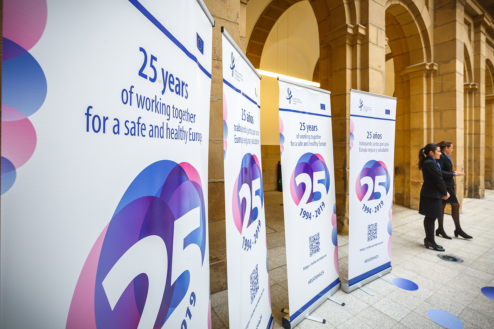 05/06/2019 - 18:48 - EU-OSHA and its extensive network of partners celebrated in Bilbao on 5 June their joint efforts over the past 25 years for safer and healthier European workplaces.  photo: © EU-OSHA / Fernando Aramburu Garrido