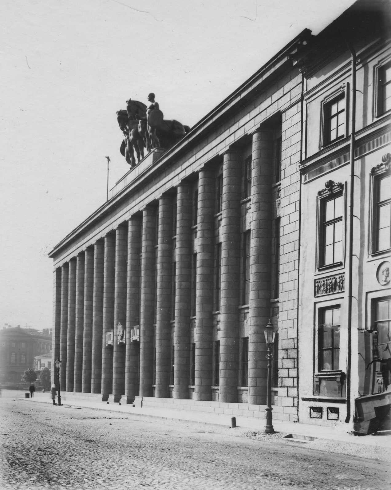 Открытка здание немецкого посольства в петербурге