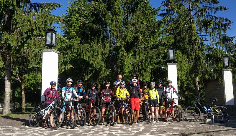 Fin de semana de Mountain bike en Urbasa. Foto de grupo