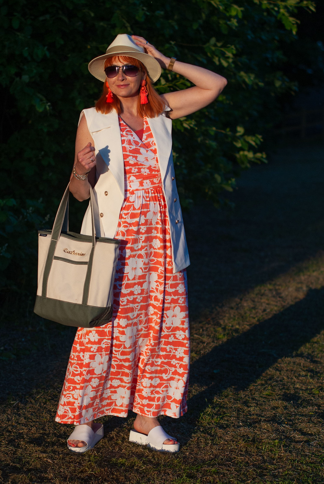 Fashion Over 40: A Beach Dress Styled For Daytime and Dinner | Not Dressed As Lamb, Over 40 Style