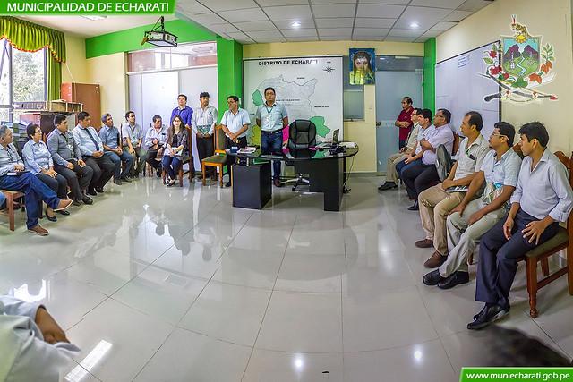Alcalde Boris Chávez presento a nuevo gerente municipal de Echarati