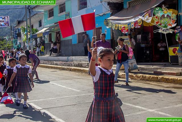 Echarati celebro el día de la bandera