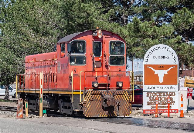 Denver Rock Island RR DRIR 553(SW8) Stockyards Denver, Colorado