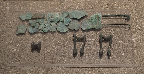 Painted tomb (1799) from Sarno: bronze belt and fittings from first inhumation