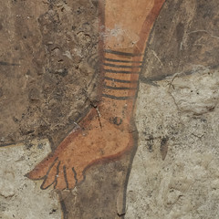 Painted tomb (1799) from Sarno: detail of prick spur