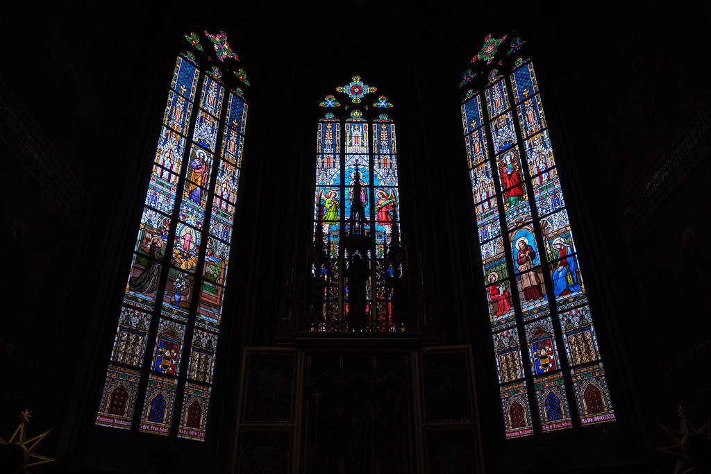 Stained Glass window at St. Vitus Cathedral