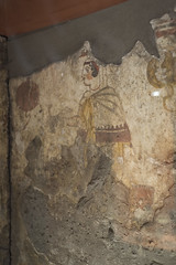 Painted tomb (1801) from Sarno: seated woman