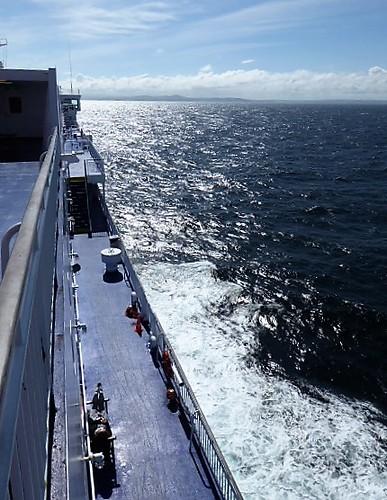 Cruising towards the coast of Wales