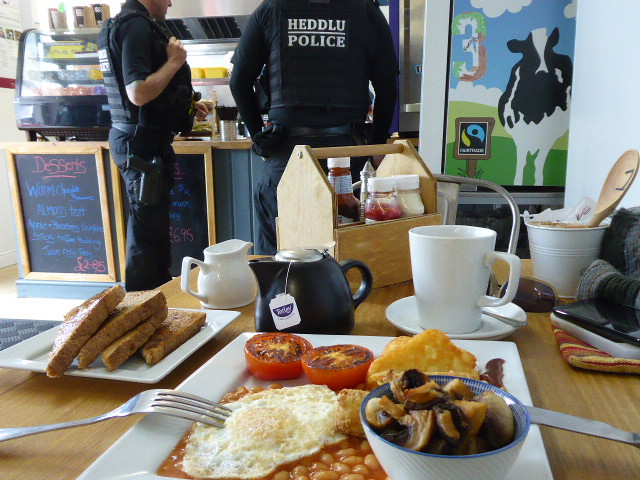 Fabulous breakfast at Old Station Cafe, Goodwick