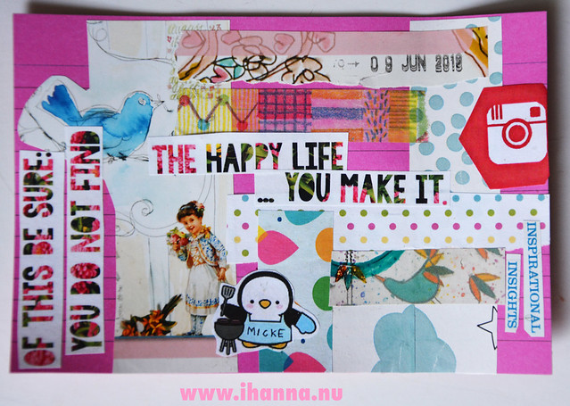 ICAD day 9 - Create our happy life yourself index card by iHanna #icad2019