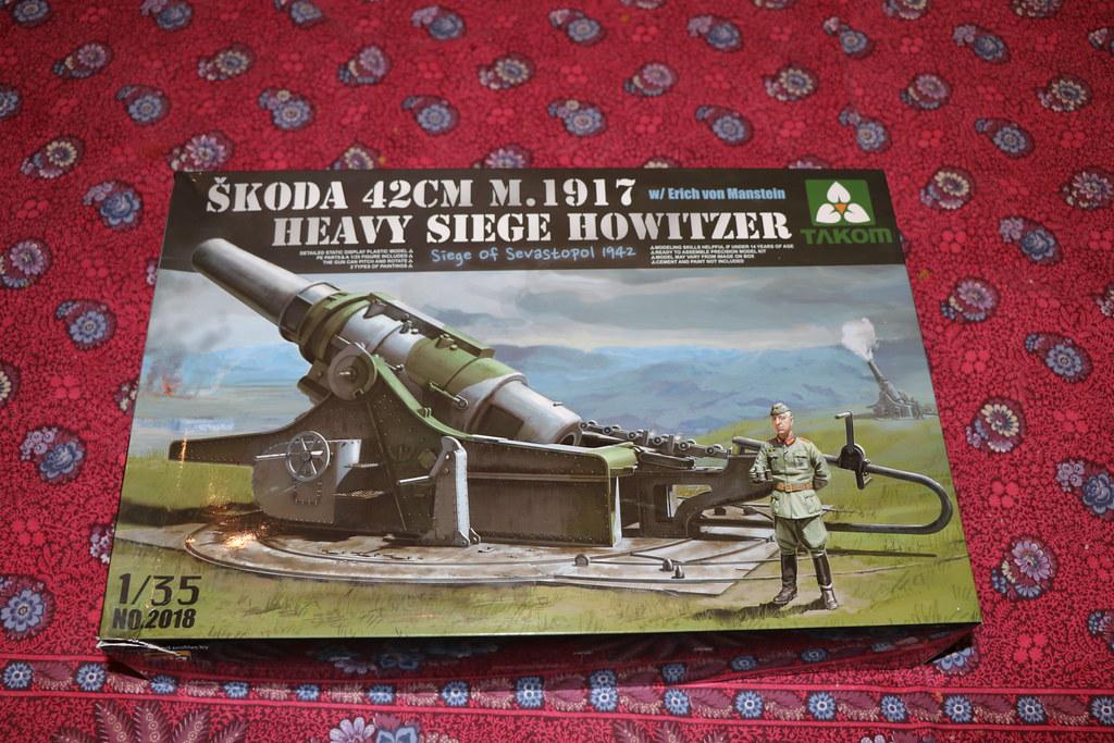 Boite Skoda 42cm M.1917 Heavy siege howitzer Takom 1/35