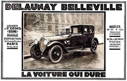 Delaunay Belleville Modeles 12 14-16 et 25-30 cv