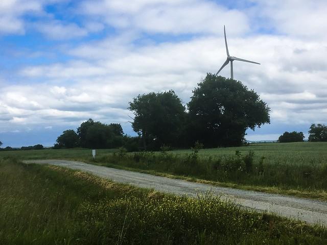 En chemin par un après-midi sans vent
