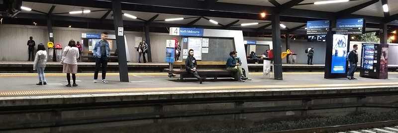 North Melbourne Station, 7pm Saturday