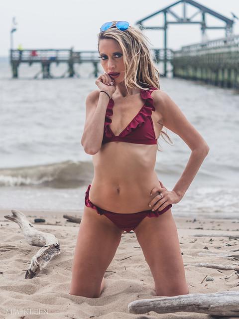 Kristin at the Beach