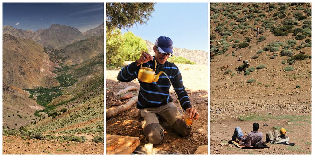 Lunch stop, Tizi-n-Mezzik mountain pass (2489m), Mount Toubkal trek