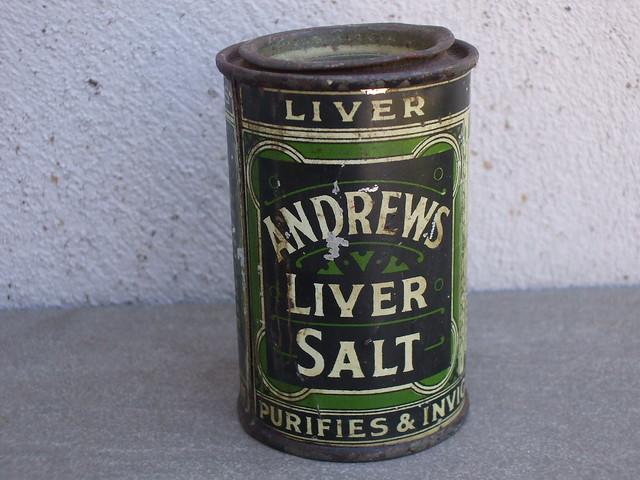 Vintage Andrews Liver Salt Advertising Tin