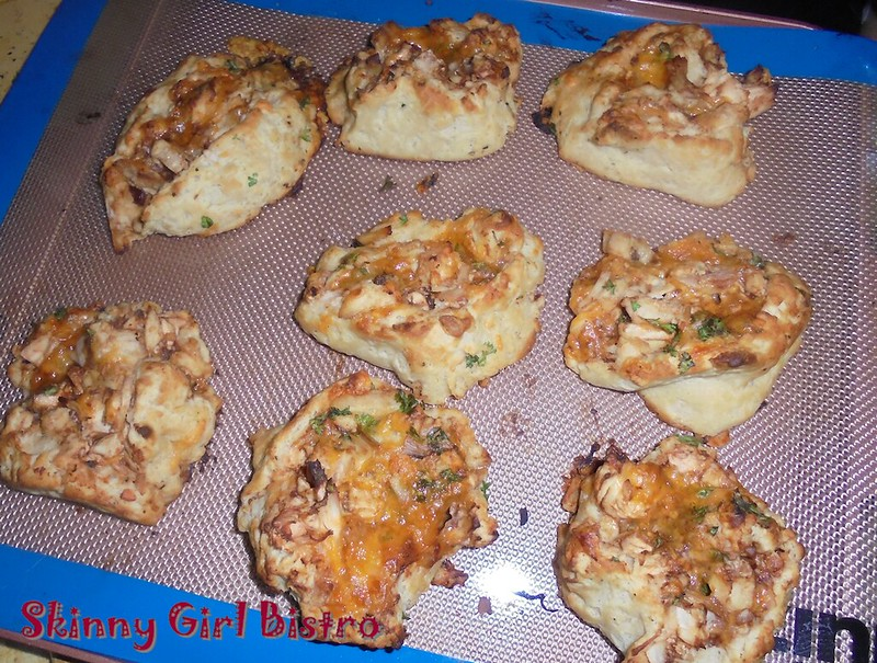 Photo: Pan of BBQ Chicken rolls