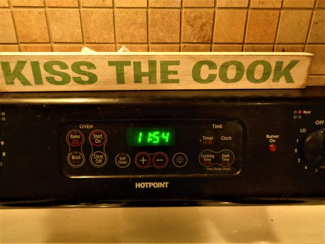 TIME TO KISS THE COOK