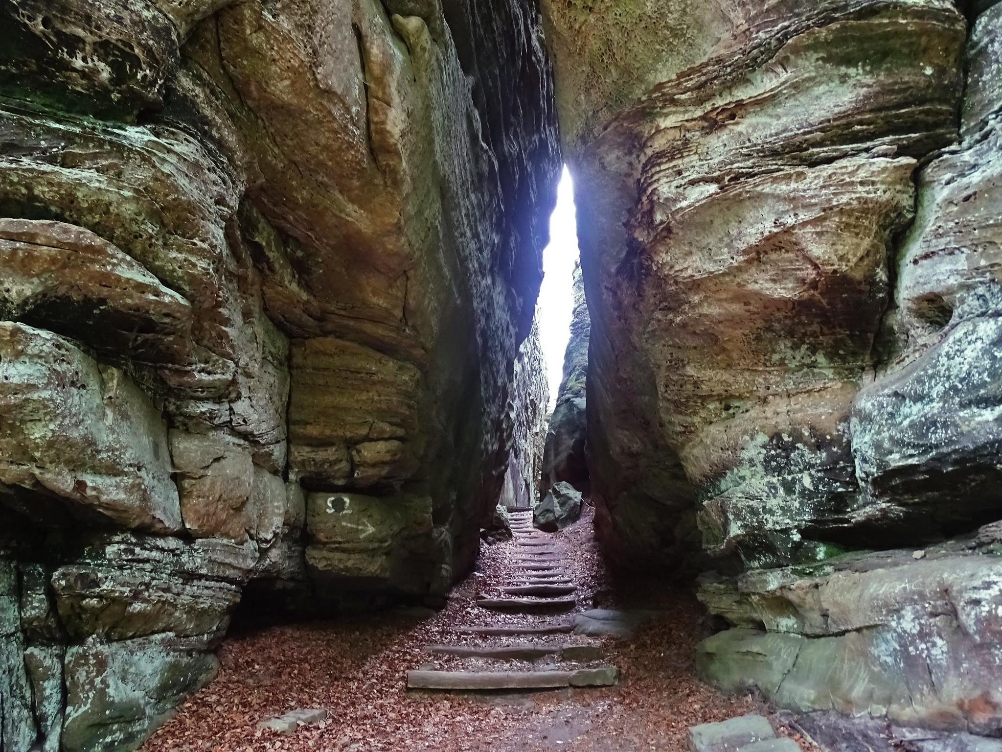 formacion rocosa Geopark Mellerdall o Mullerthal Luxemburgo