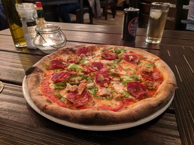 spicy pizza @ Gabriele's Italian Pizzeria