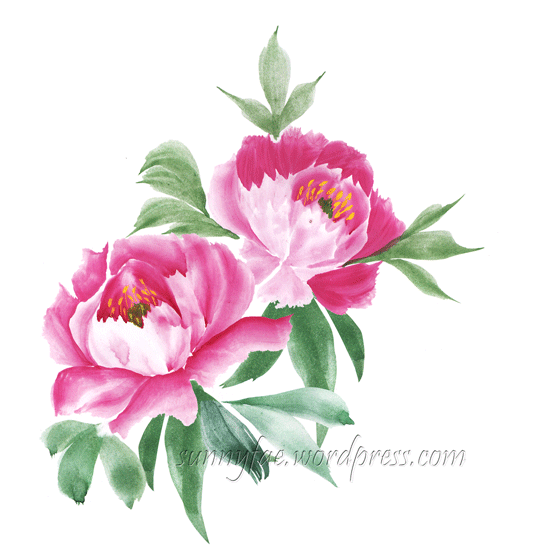 peony made from pieces
