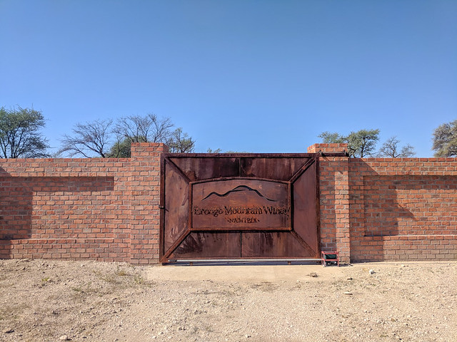Erongo Mountain Winery entrance