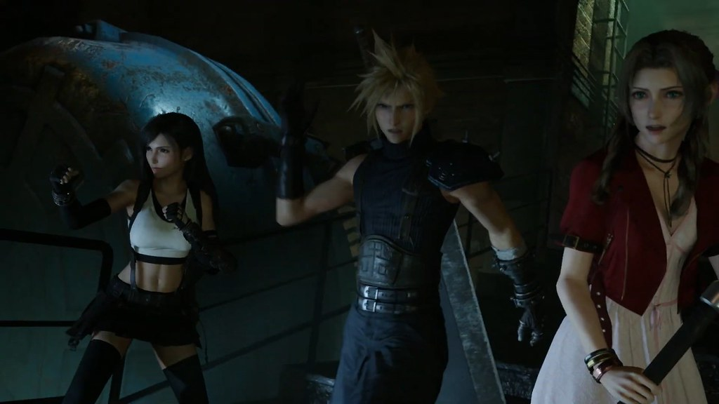 Final Fantasy VII Remake - Cloud Tifa Aerith