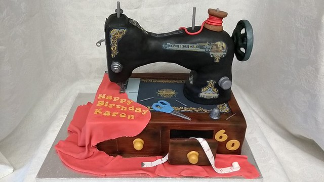 Sewing Machine Cake by Character Cake Designs