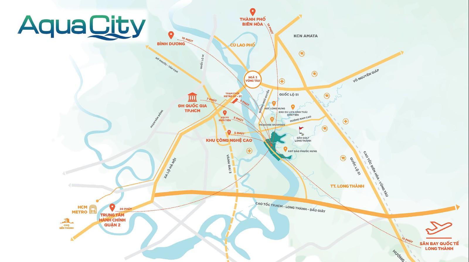 Aqua City – Vị trí không thể đắc địa hơn của khu vực Đồng Nai.