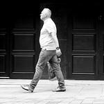 Walking down Fishergate in Preston