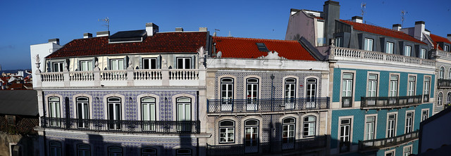 Building Azulejo Tiles View from Unit 5B at Chiado Mercy Lisbon Best Apartments - Lisbon Portugal
