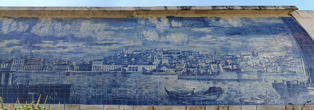 Tagus River Panorama Azulejo Tiles - Tram 28 walk route - Lisbon Portugal