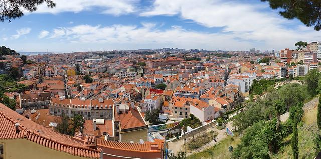 Panoramic lookout Miradouro Sophia de Mello Breyner Andresen - Lisbon, Portugal