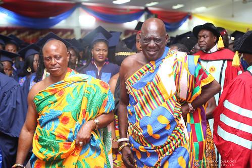 Osabarima Kwesi Atta II, Omanhen of Oguaa Traditional Area (right) and Nana Kweku Enu III, Chief of Kokoado at the Congregation
