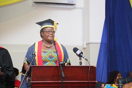 Prof. Dora F. Edu-Buandoh, presenting awards to deserving graduands