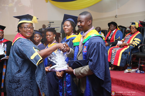 Prof. Dora F. Edu-Buandoh, presenting awards to deserving graduands