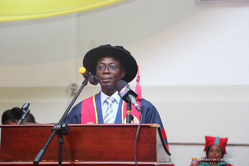 Prof. Johnson Nyarko Boampong, Provost, College of Health and Allied Sciences presenting graduands to be conferred with their Diplomas and degrees