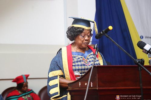 Mrs. Nancy O. C. Thompson, Chairman of the University Council opening the session