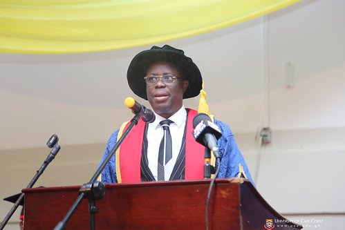Prof. Joseph Ghartey Ampiah, Vice-Chancellor, delivering his address