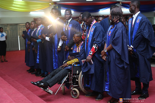 First class graduands waiting to be acknowledged by the Vice-Chancellor