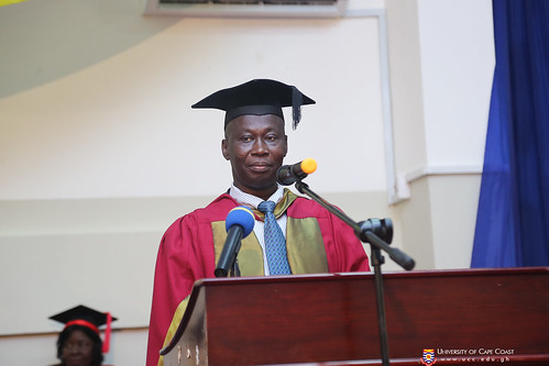 Prof. Isaac Kojo Galyuon, PROVOST - COLLEGE OF DISTANCE EDUCATION, presenting graduands to be conferred with their degrees and diplomas