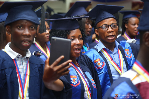 A section of the graduands singing the UCC Anthem