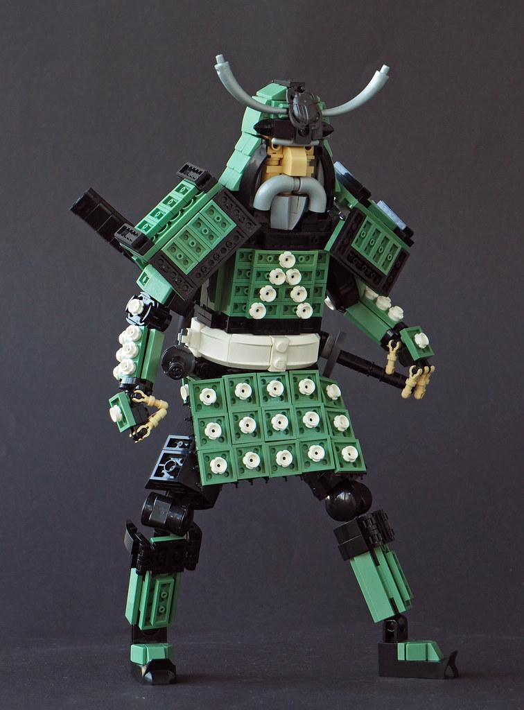 The Samurai of the Garden (custom built Lego model)