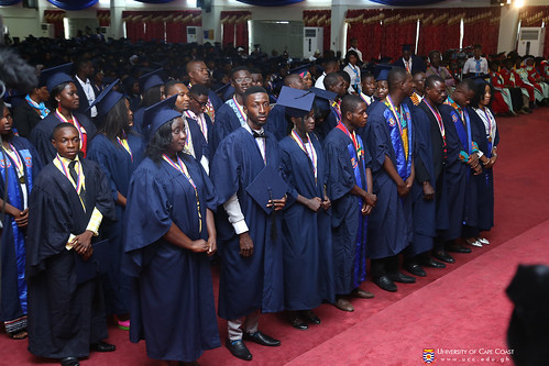 A section of first class graduands being acknowledged.